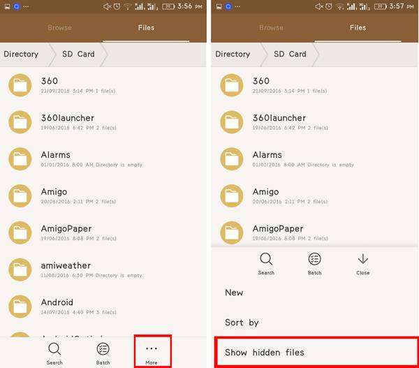 Hide Folder & Files In Android Without any App -3