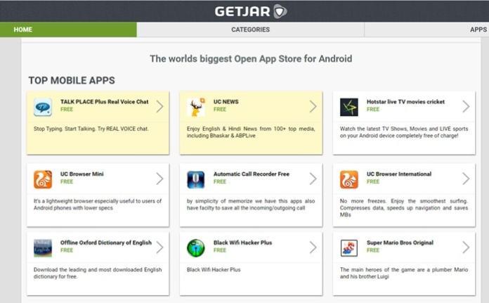 GetJar - Google Play Store Alternatives