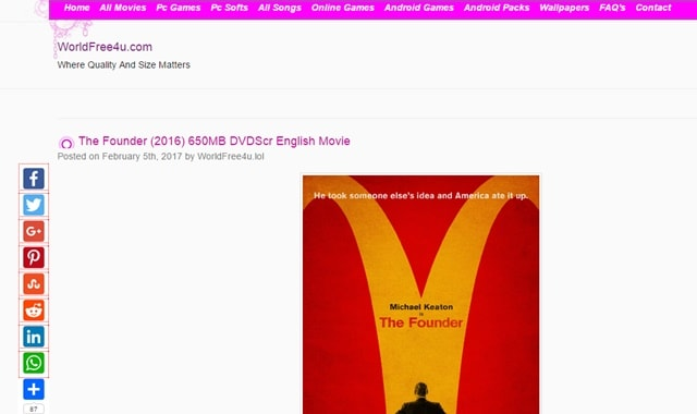 Best Free Movie Downloads Sites