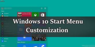 Customize Start Menu in Windows 10