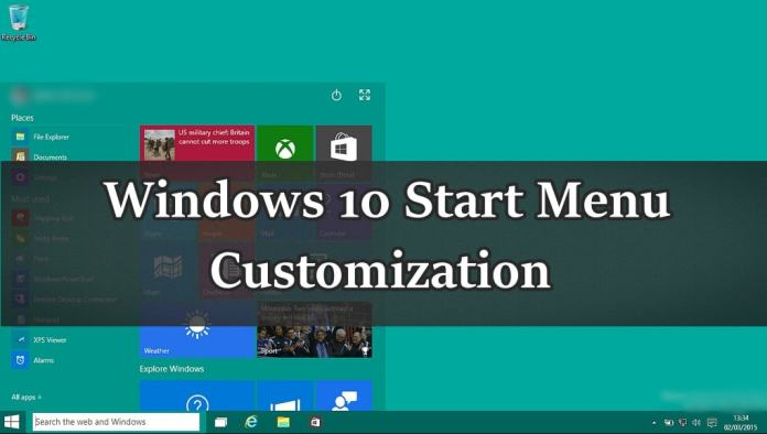 How to Customize Start Menu in Windows 10 Completely ?
