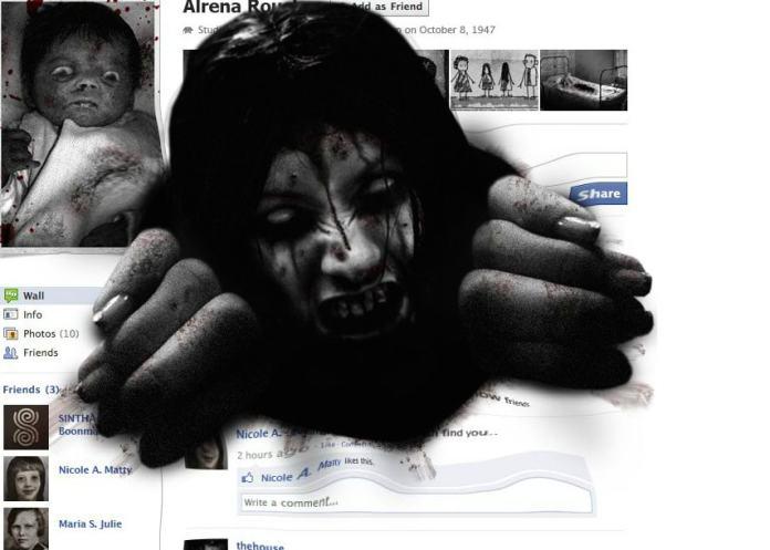 Facebook scary prank