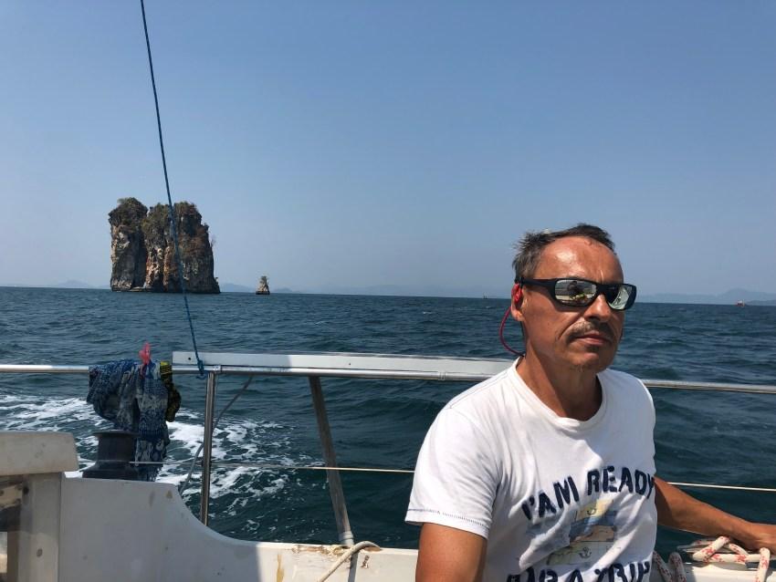 Samedi dimanche vers la baie de kraby, ko phanak. Naviger sans vent