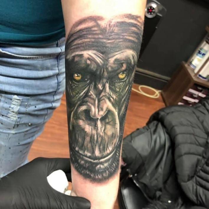 Black Monkey Tattoo -leanne_brothers