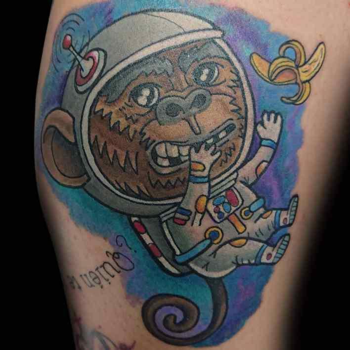 Cute Monkey Tattoo -vezetattoo