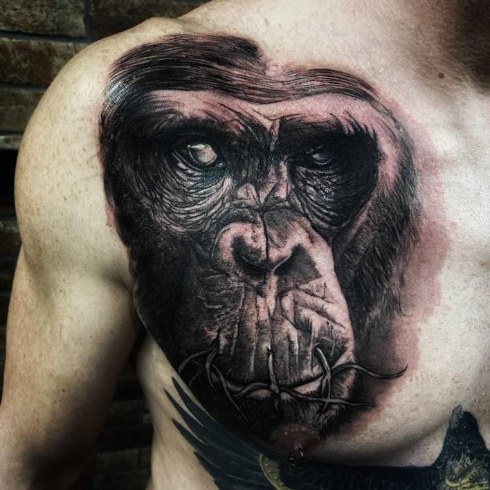 Realistic Monkey Tattoo -wolf_tattoo