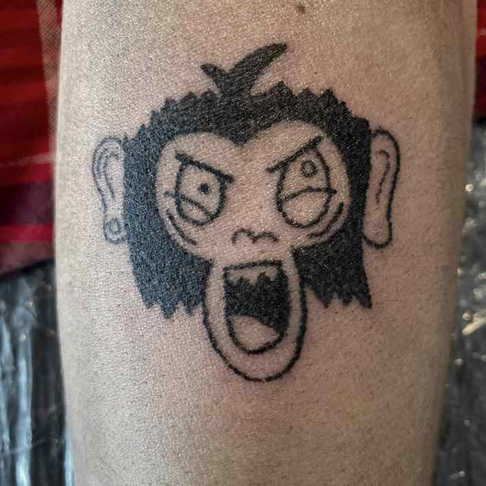 Simple Monkey Tattoo -celine.luzia