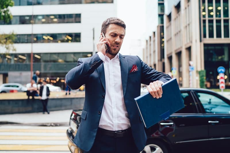Never miss a meeting - Successful businessman