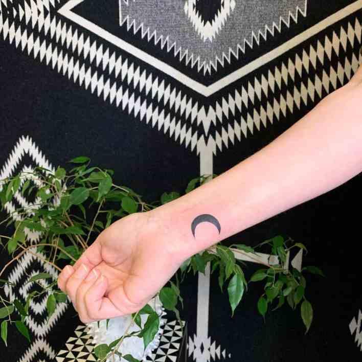 Small Crescent Moon Tattoo aprilcornell