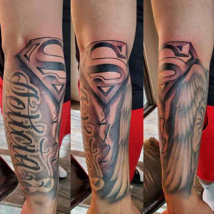 Superman Forearm Tattoo -tat2s_by_seeker
