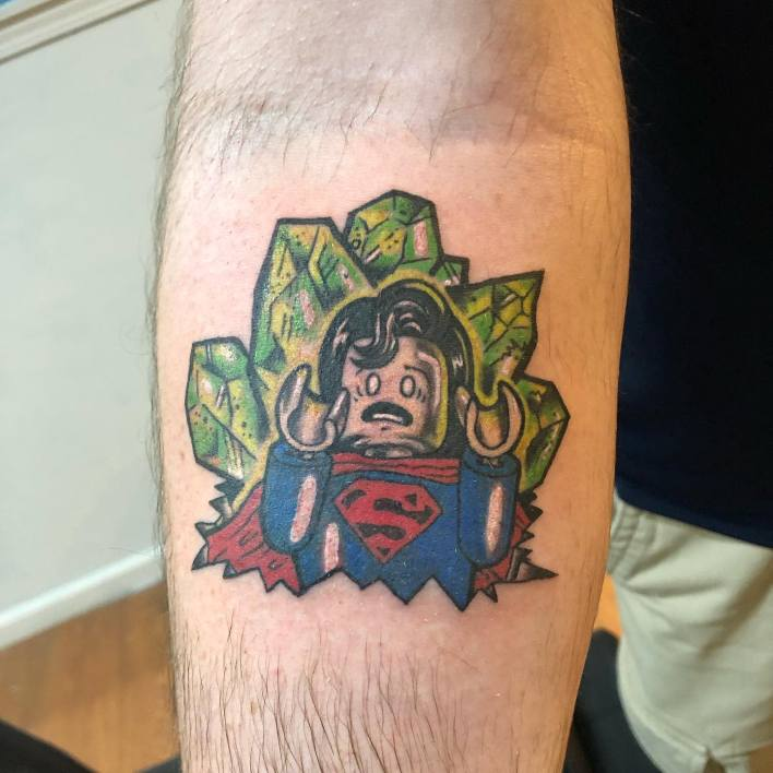 Small Superman Tattoo -tattoos_by_penguin