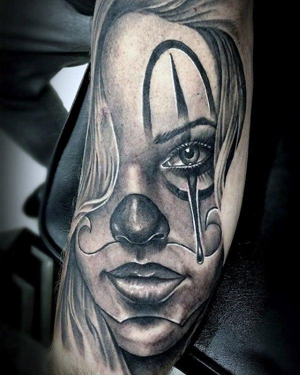 Tattoo Outline Gangster Clown