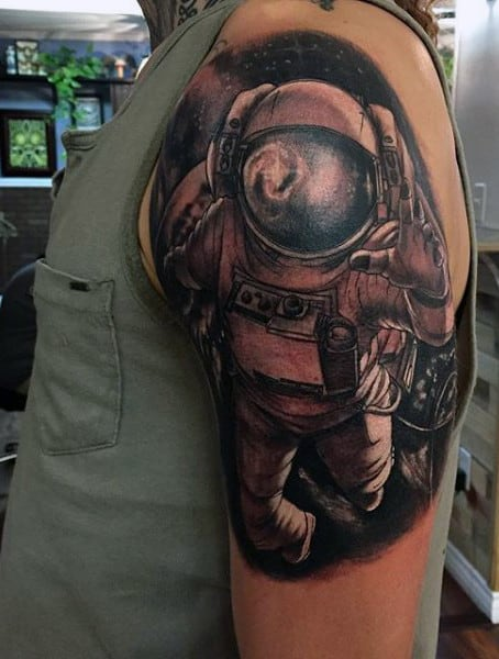 e9e50e85bf239 70 Outer Space Tattoos For Men Galaxy And Constellations Free ...