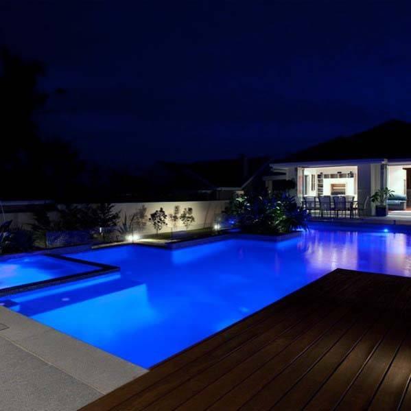 top 60 best pool lighting ideas