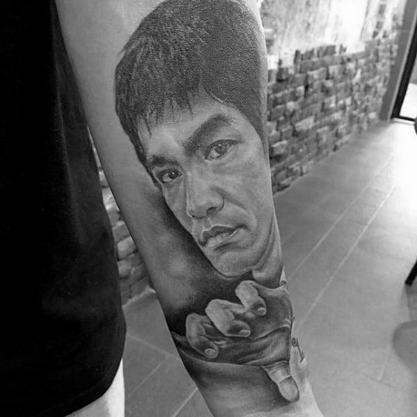 Bruce Lee Symbol Tattoo