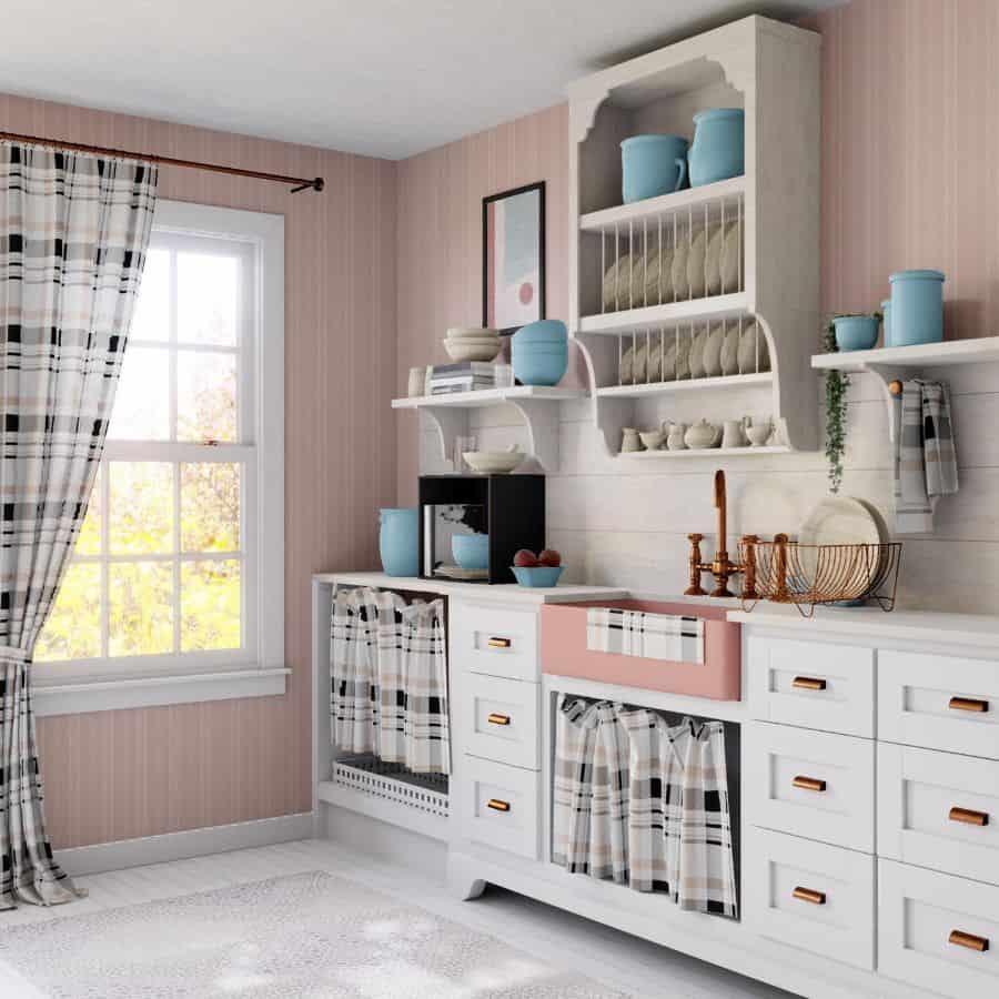 the top 77 kitchen curtain ideas