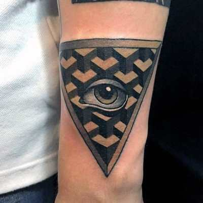 Clear Eye Male Illumnati Tattoo