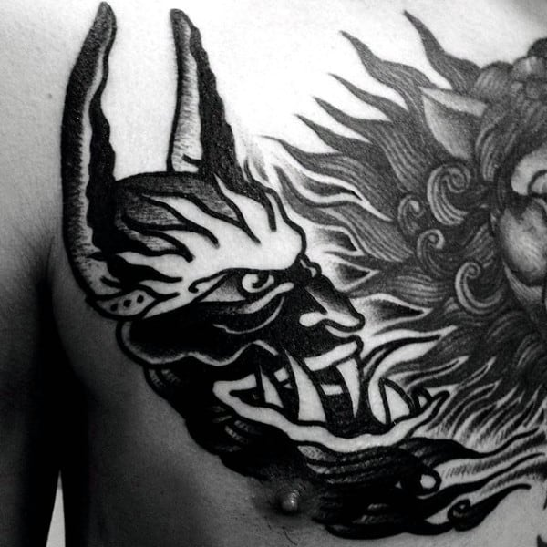Tribal Dragon Skull Drawing Cool