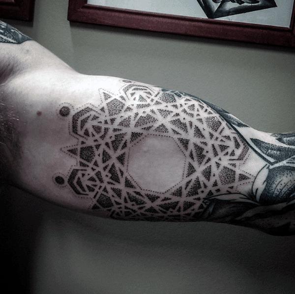 100 Pointillism Tattoo Designs For Men Modern Dot Ideas