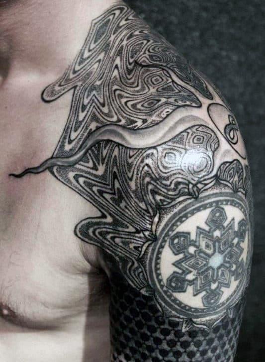 80 Fractal Tattoo Designs For Men Repeating Geometry Ink