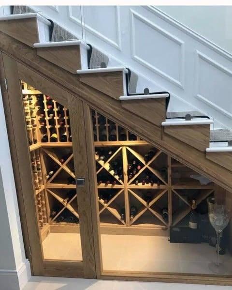 Top 70 Best Under Stairs Ideas Storage Designs | Mini Bar Design Under Stairs | Stairs Cupboard | Basement Remodeling | Wine | Storage | Basement Stairs Ideas