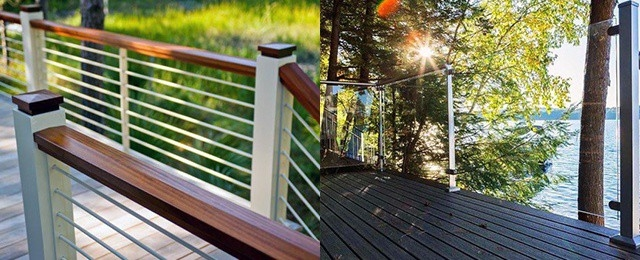 Top 70 Best Deck Railing Ideas Outdoor Design Inspiration | Exterior Wood Handrail Designs | Exterior Railing Iron | Style Stainless Steel Wood | Wooden | Contemporary Wood | Modern