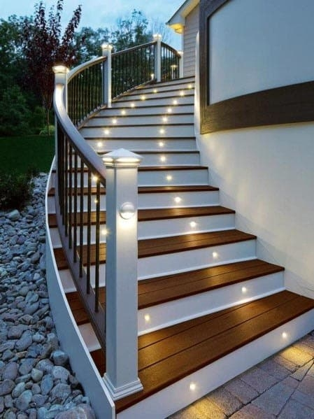 Top 50 Best Deck Steps Ideas Backyard Design Inspiration | Best Wood For Outdoor Stairs | Deck Railing | Stair Stringer | Handrail | Staircase | Railing