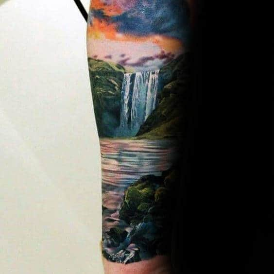 And Tattoo Sunset Water