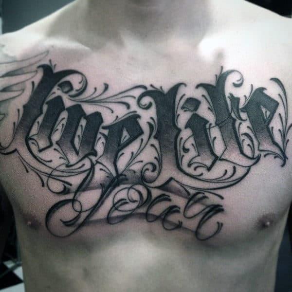 Fancy Fonts Word Tattoos