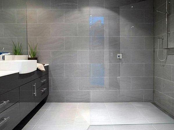 Top 60 Best Grey Bathroom Tile Ideas Neutral Interior Designs
