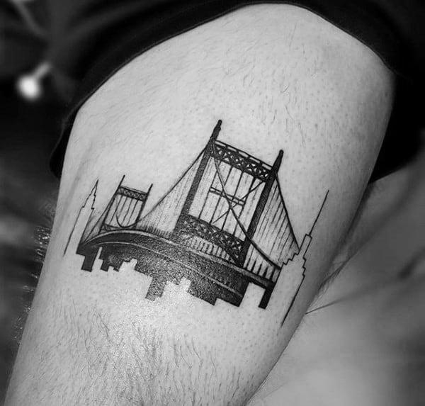 50 Bridge Tattoo Design Ideas For Men Architectural Ink