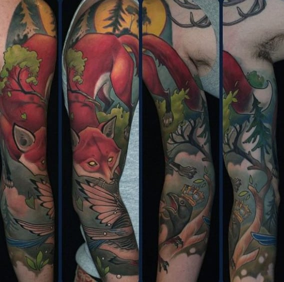 Top 100 Best Fox Tattoo Designs For Men Sly Ink Inspiration