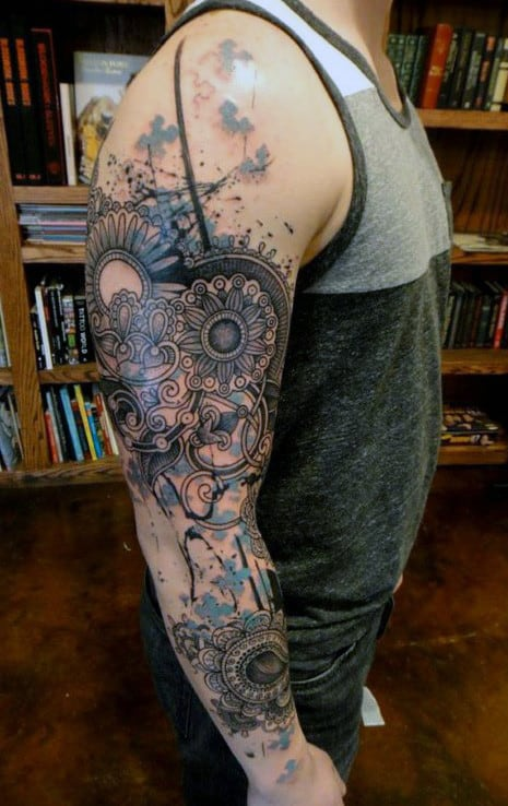 Half Arm Sleeve Tattoos For Men