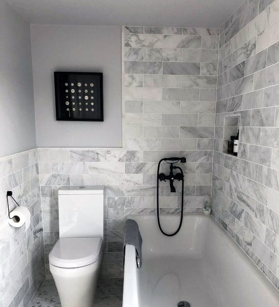 Grey Small Space Bathroom Tiles Design Novocom Top
