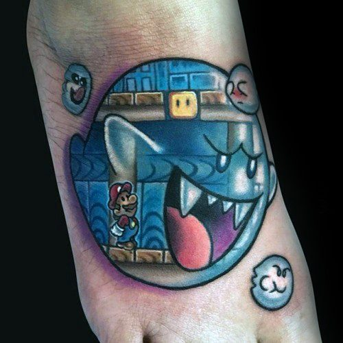 40 Mario Ghost Tattoo Ideas For Men Boos Designs