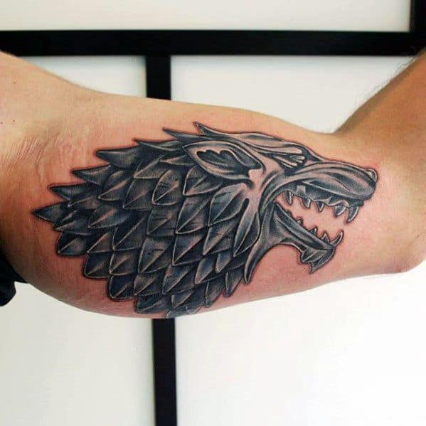 Game Thrones Dire Wolf Tattoo