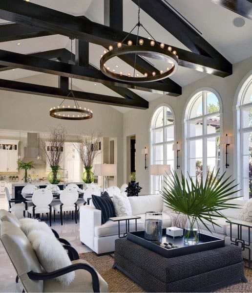 Image result for vaulted ceiling with beams