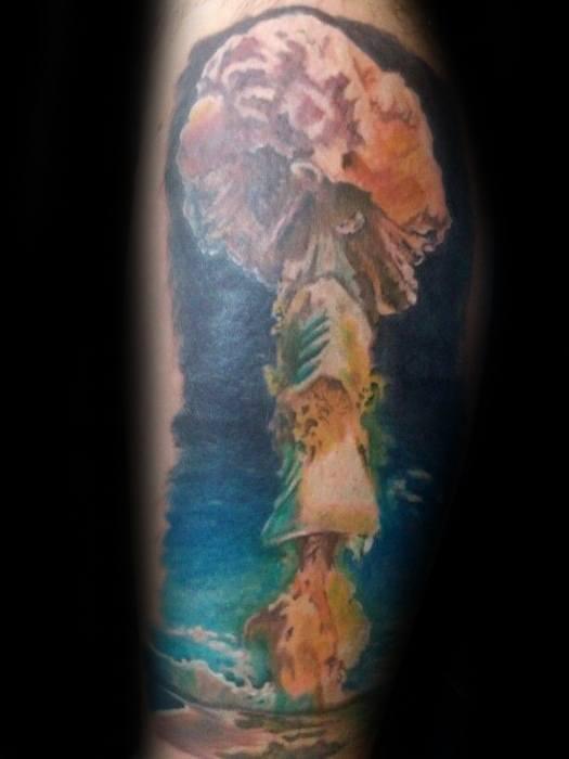 30 Mushroom Cloud Tattoo Designs For Men Atomic Ink Ideas