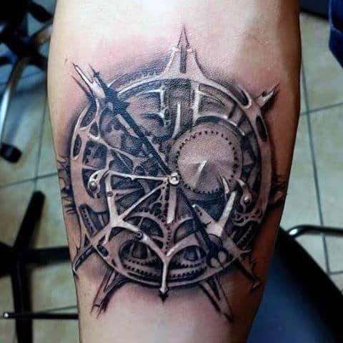 Male Clocks Tattoos