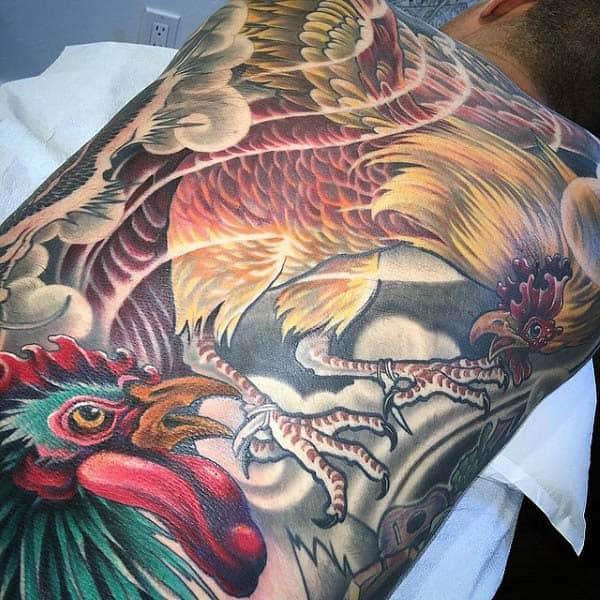 Chinese Tattoos Rooster