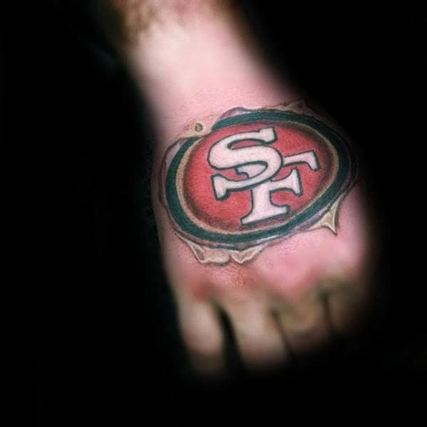 50 San Francisco 49ers Tattoos For Men Football Design Ideas