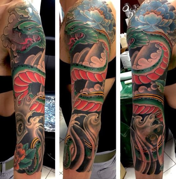 65076bedb 70 Snake Tattoos For Men Venomous Bite Of Idea Inspiration