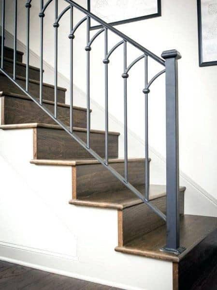 Top 70 Best Stair Railing Ideas Indoor Staircase Designs   Steel Railing For Steps   Modular   Wooden   Terrace   Modern Farmhouse   Loha