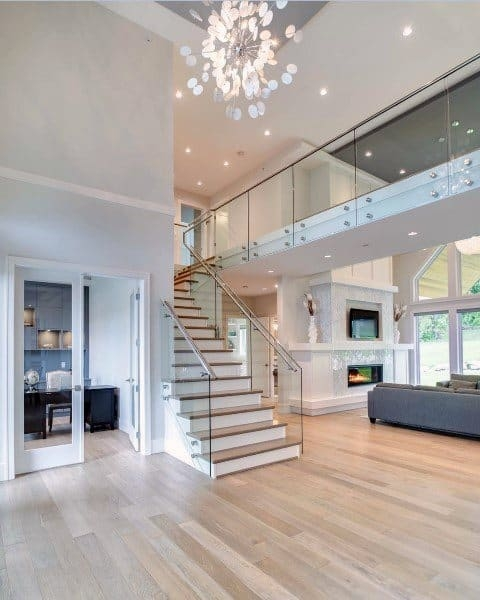 Top 70 Best Staircase Ideas Stairs Interior Designs | Living Room Stairs Design | Home | Classic House | Catalogue | White | Semi Circle House