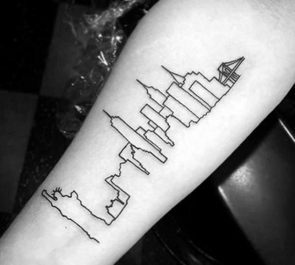 Downtown Denver Skyline Outline