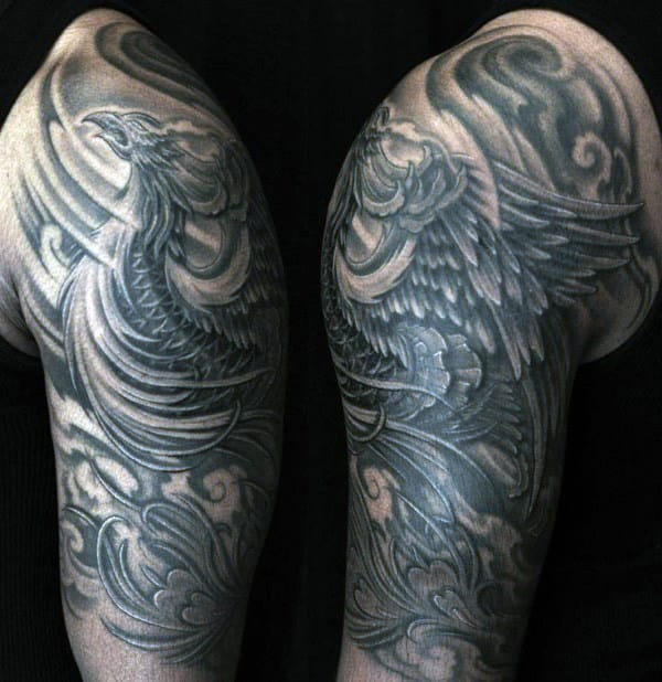 Tribal Real Tattoo Rising Phoenix