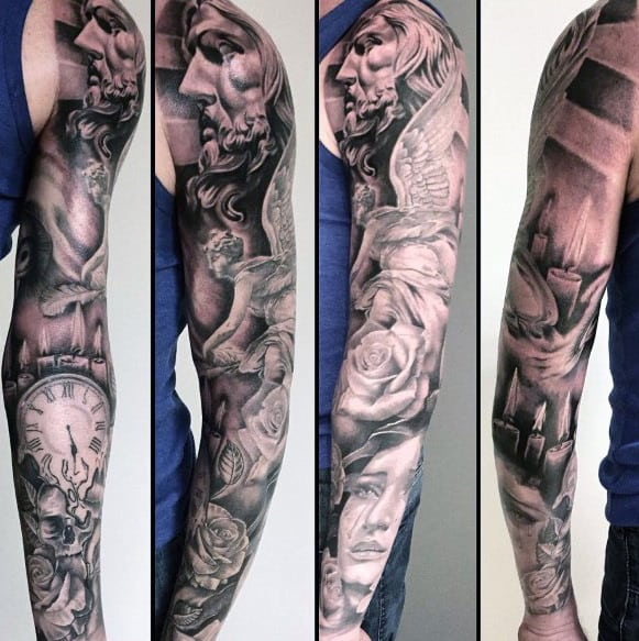 Quarter Sleeve Tattoo Designs For Men
