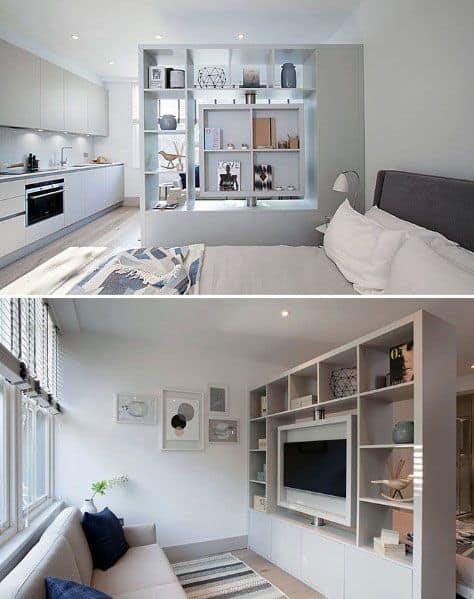 Room Divider Bookcase Studio Apartment Ideas