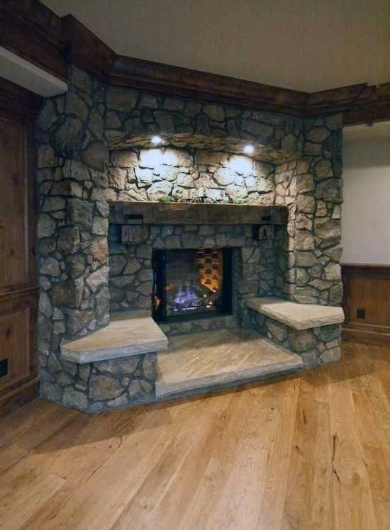 title   Corner Stone Fireplace