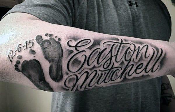 Top 60 Best Footprint Tattoos For Men Ink Design Ideas